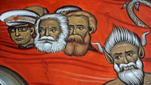 Montenegro church depicts Tito, Marx and Engels in hell